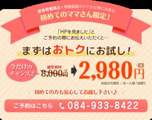 産後のケア初回限定2980円